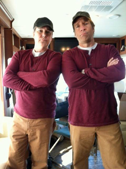 Chuck and Mike dressed alike