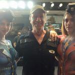 Mike, two nake women