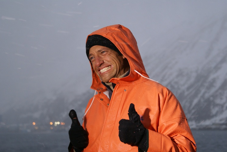 Mike Rowe braves the cold