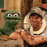 Mike Rowe and Oscar the Grouch