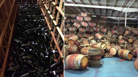 Napa Winery - Earthquake
