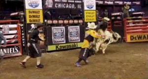 mike rowe tries bullfighting