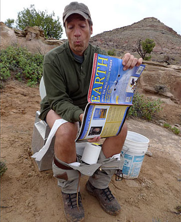 mike rowe fossil hunter toilet