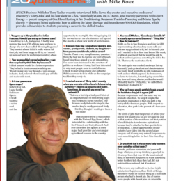 HVACR Business: 20 Questions with Mike Rowe