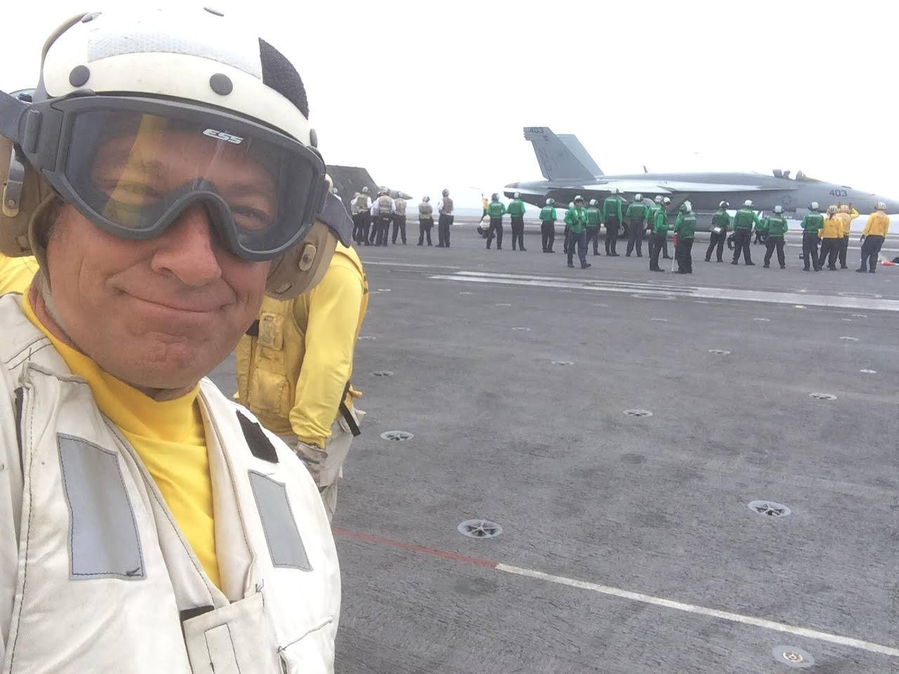 Mike Rowe Aircraft Carrier USS Stennis