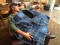 mike rowe denim quilt