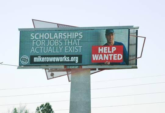 mrWF Scholarship Billboard