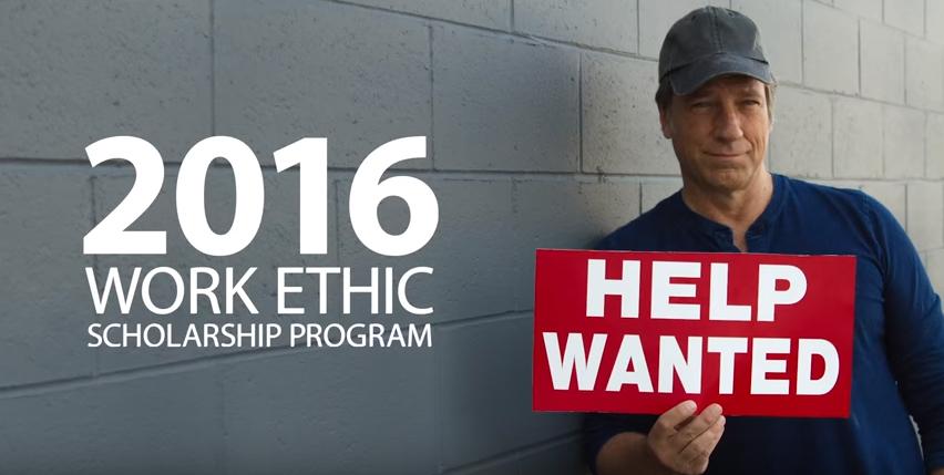 2016 WORK ETHIC SCHOLARSHIP