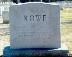 Rowe Headstone