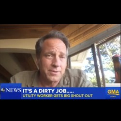 Mike on GMA - Submerged Utility Worker