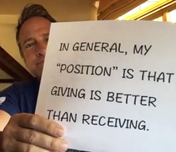 Giving vs receiving