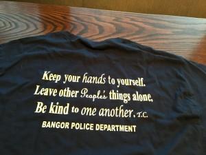 Bangor Maine Police Dept Shirt