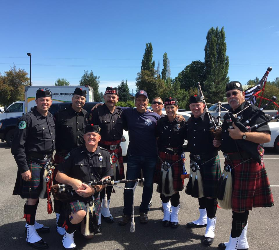 KC Firefighters Pipes and Drums - Mike Rowe