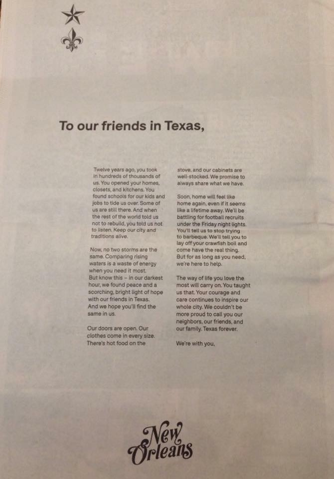 RTF - To our friends in Texas
