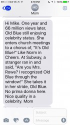Texts From Mother - Old Blue