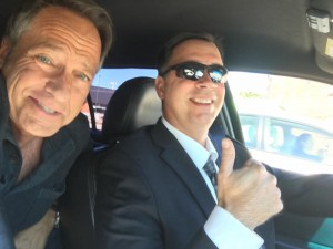 Mike Rowe and Chauffer