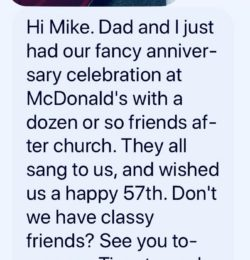 Texts From Mother: Fancy Anniversary Celebration