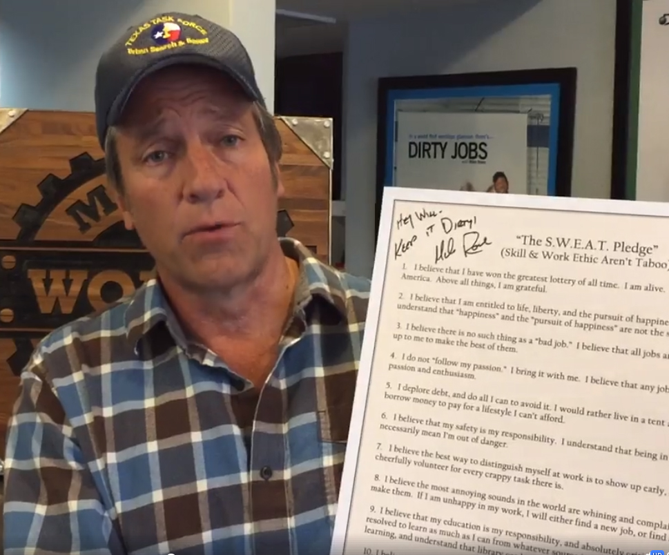 2018 Work Ethic Scholarship Launch – Mike Rowe