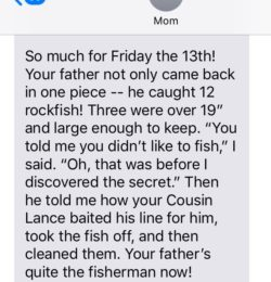 Texts From Mother: Fishing Trip Happy Ending