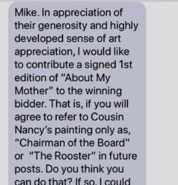 Text From Mother: Chairman of the Board